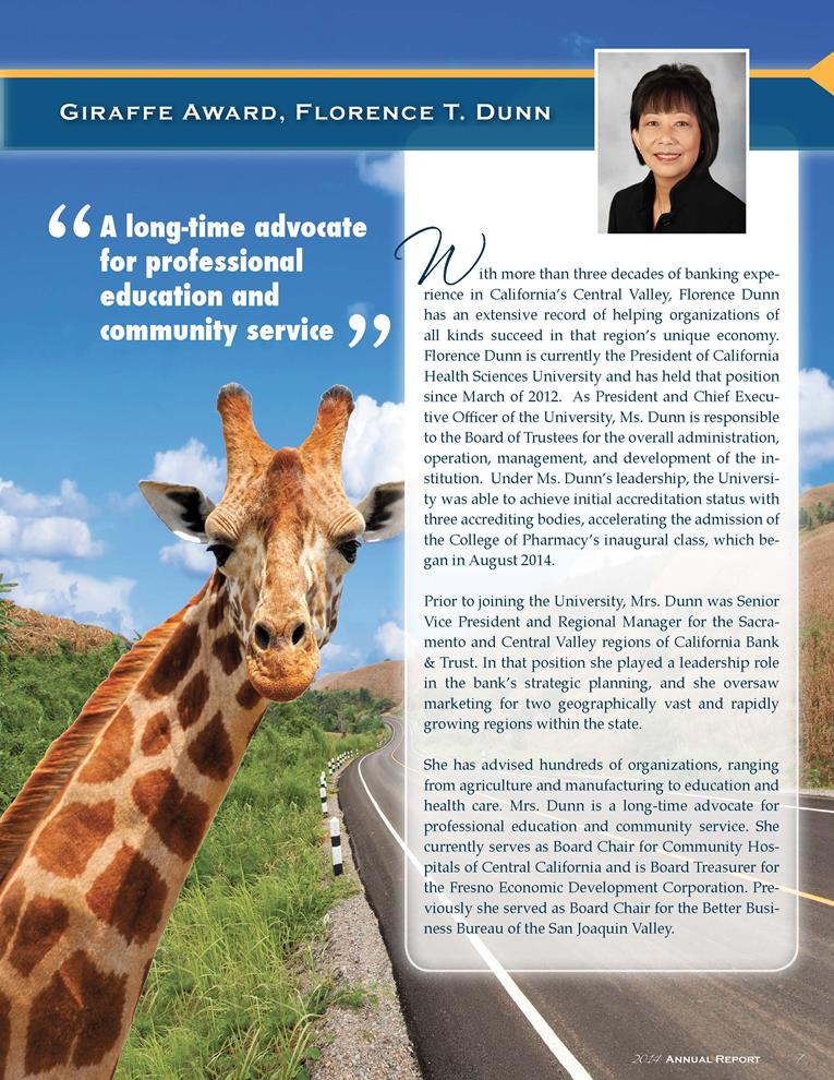 Florence Dunn wins EDC 2014 Giraffe award (Copy)