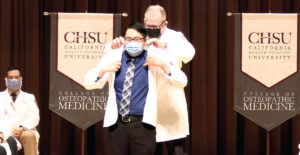 Medical Student being coated