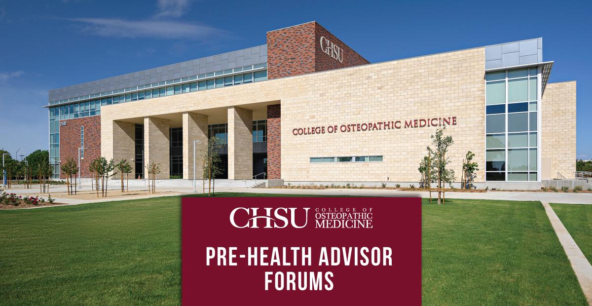 CHSU-COM Admissions Hosts Quarterly Pre-Health Advisor Forums