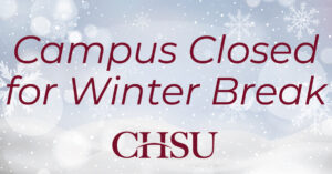 Campus Closes for Winter Break on Friday