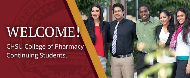 Welcome CHSU College of Pharmacy Continuing Students!