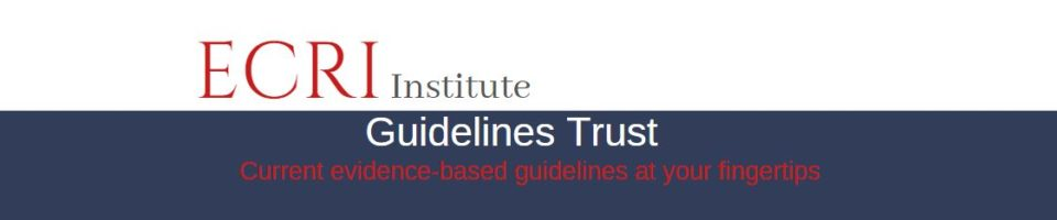 ECRI Institute Guidelines Trust