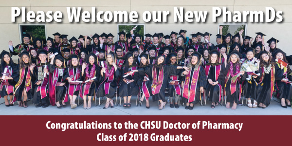 CHSU Doctor of Pharmacy Graduation Inaugural Class of 2018