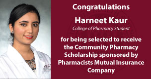 Harneet Kaur Receives Community Pharmacy Scholarship